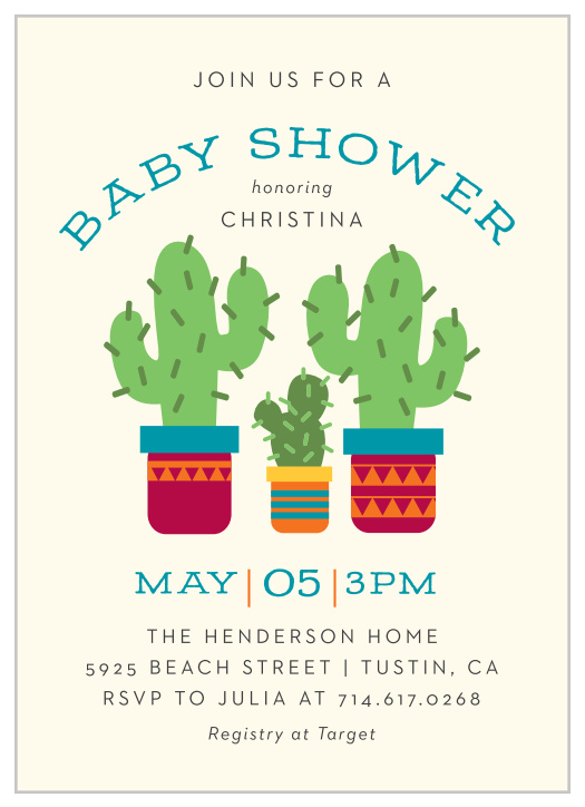 Mexican Baby Shower Invitations Match Your Color Style Free
