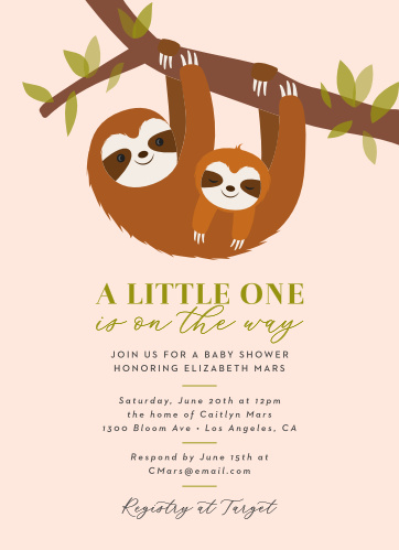 Jungle Baby Shower Invitations Match Your Color Style Free