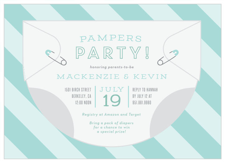image regarding Free Printable Diaper Party Invitations called Diaper Boy or girl Shower Invites - Sport Your Colour Design Free of charge!