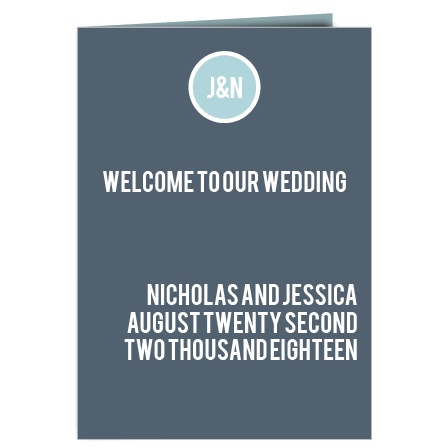 The Circled Monogram Wedding Program