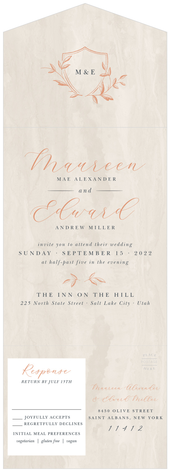 Seal And Send Wedding Invitations.Seal And Send Wedding Invitations All In One Wedding
