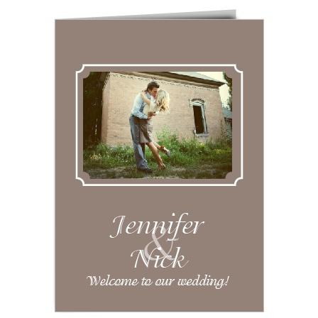The Happy Couple Wedding Program