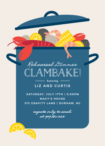Creative Rehearsal Dinner Invitations Match Your Color Style Free