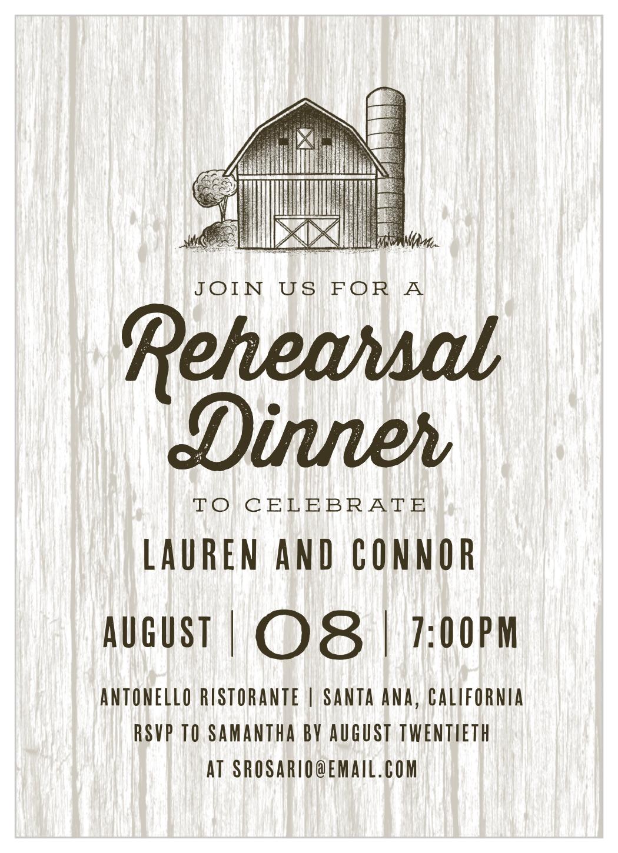 Wedding Rehearsal Invite Rehearsal Dinner Invite Family Style Rehearsal Dinner Rustic Rehearsal Dinner Invitation