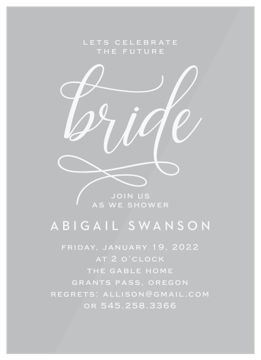 Bridal Shower Invitations Templates Match Your Color Style Free