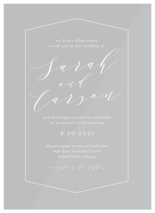 Black /& White Swirl Deco Personalised Engagement Party Invitations
