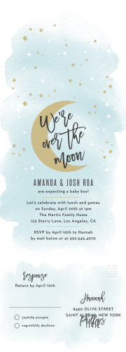 Moon Baby Shower Invitations - Match Your Color & Style Free!
