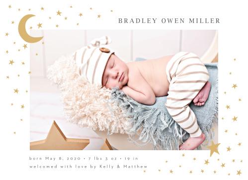 Foil Birth Announcements | 40% Off Super Cute Designs - Basic Invite