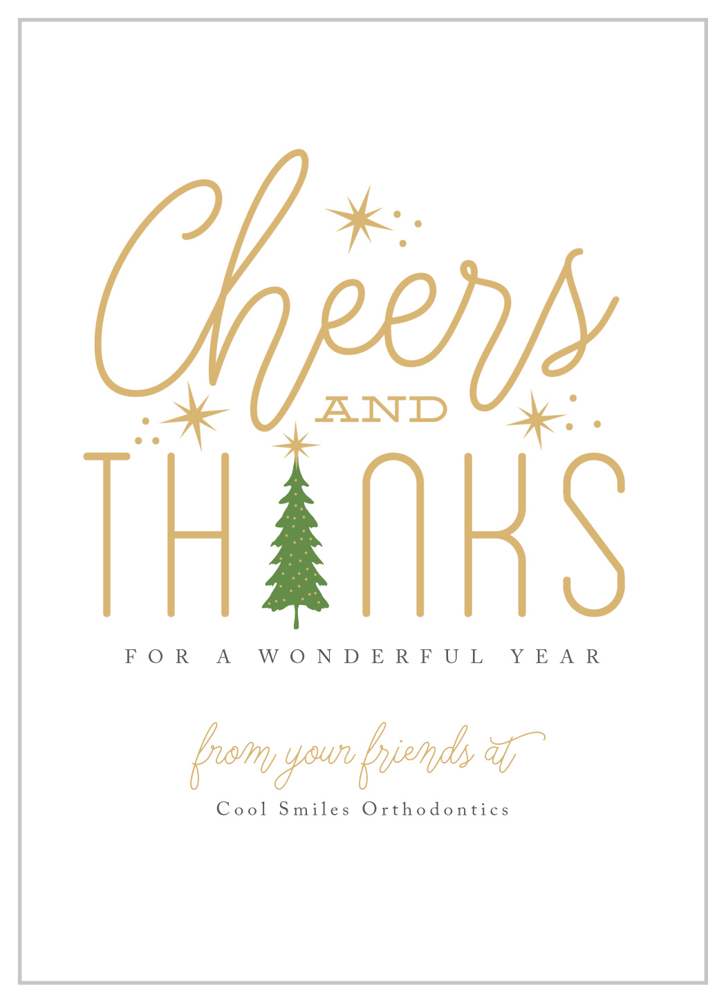 Cheers Thanks Corporate Christmas Cards By Basic Invite