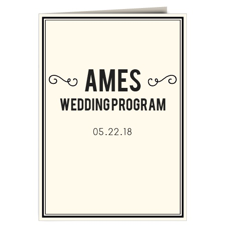 The Romantic Photo Blocks Wedding Program