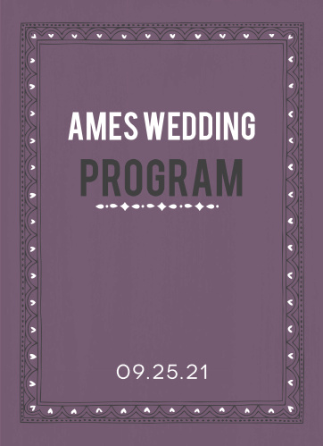 Photo Fairytale Wedding Programs