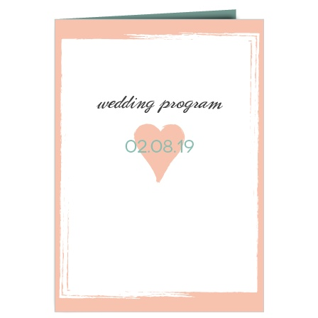 Photo Heart Wedding Program