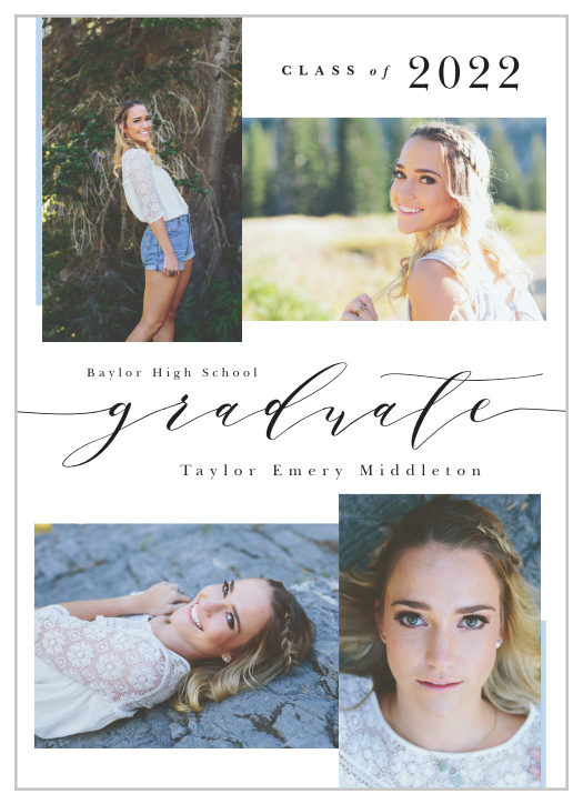 Graduation Announcement or double sided avail with photos Set of 40 Single sided