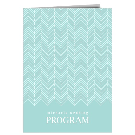 The Falling Arrows Wedding Program