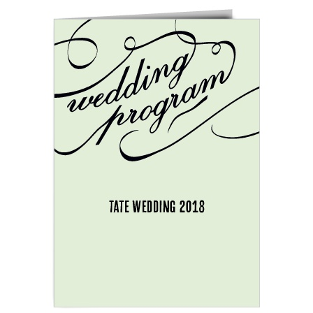 The Flourish Names Wedding Program
