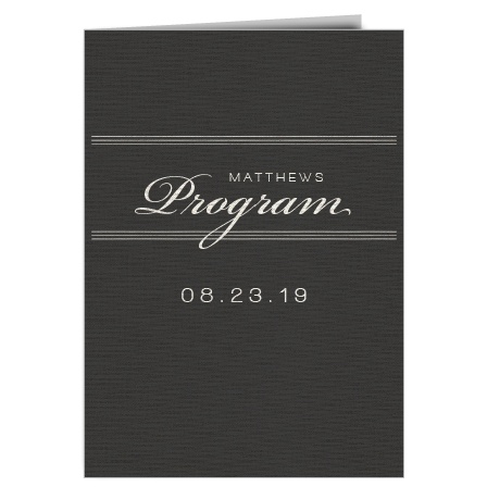Elegant Simplicity Wedding Program