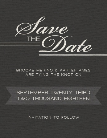 the simple elegant save the date cards by basic invite