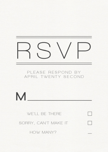 Wedding Rsvp Cards Match Your Color Style Free Basic Invite