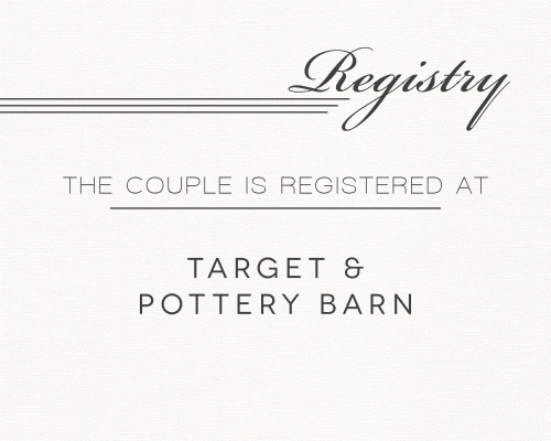 Simple Elegant Registry Cards