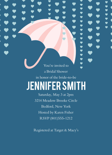 umbrella bridal shower invitations match your color style free