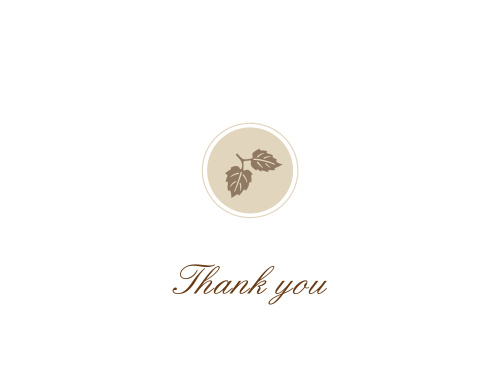 Elegant Fall Scrolls Thank You Card