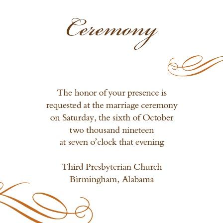 Elegant Fall Scrolls Ceremony Cards