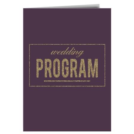 Golden Rings Wedding Programs
