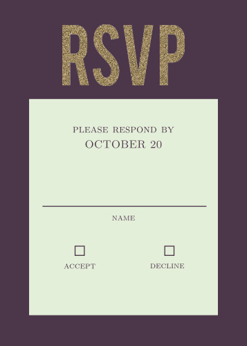 Golden Rings Response Cards