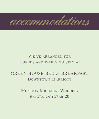 Golden Rings Accommodation Cards