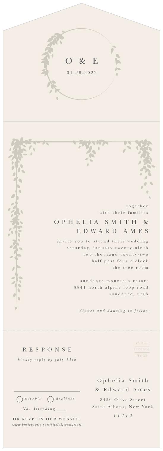 Folded Wedding Invitations - Tri Fold Wedding Invitations