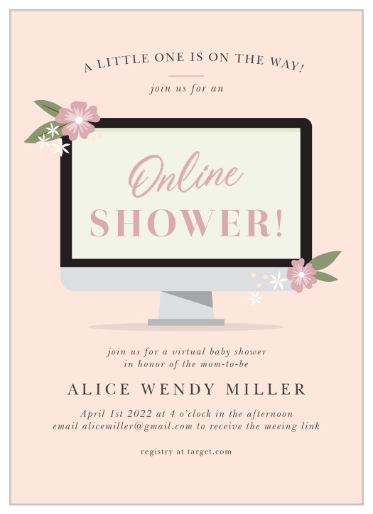 Baby Shower Wording