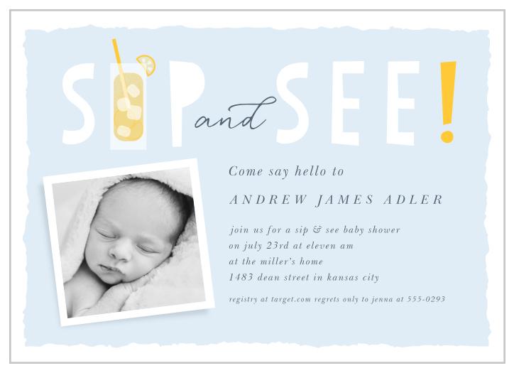 Sip & see invitations
