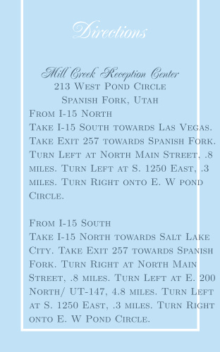 Simple Border Direction Cards