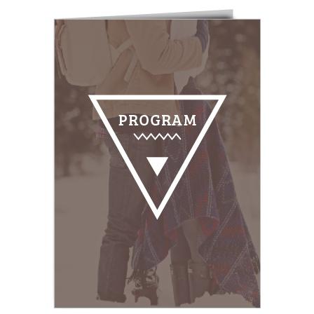 Triangle Monogram Wedding Program