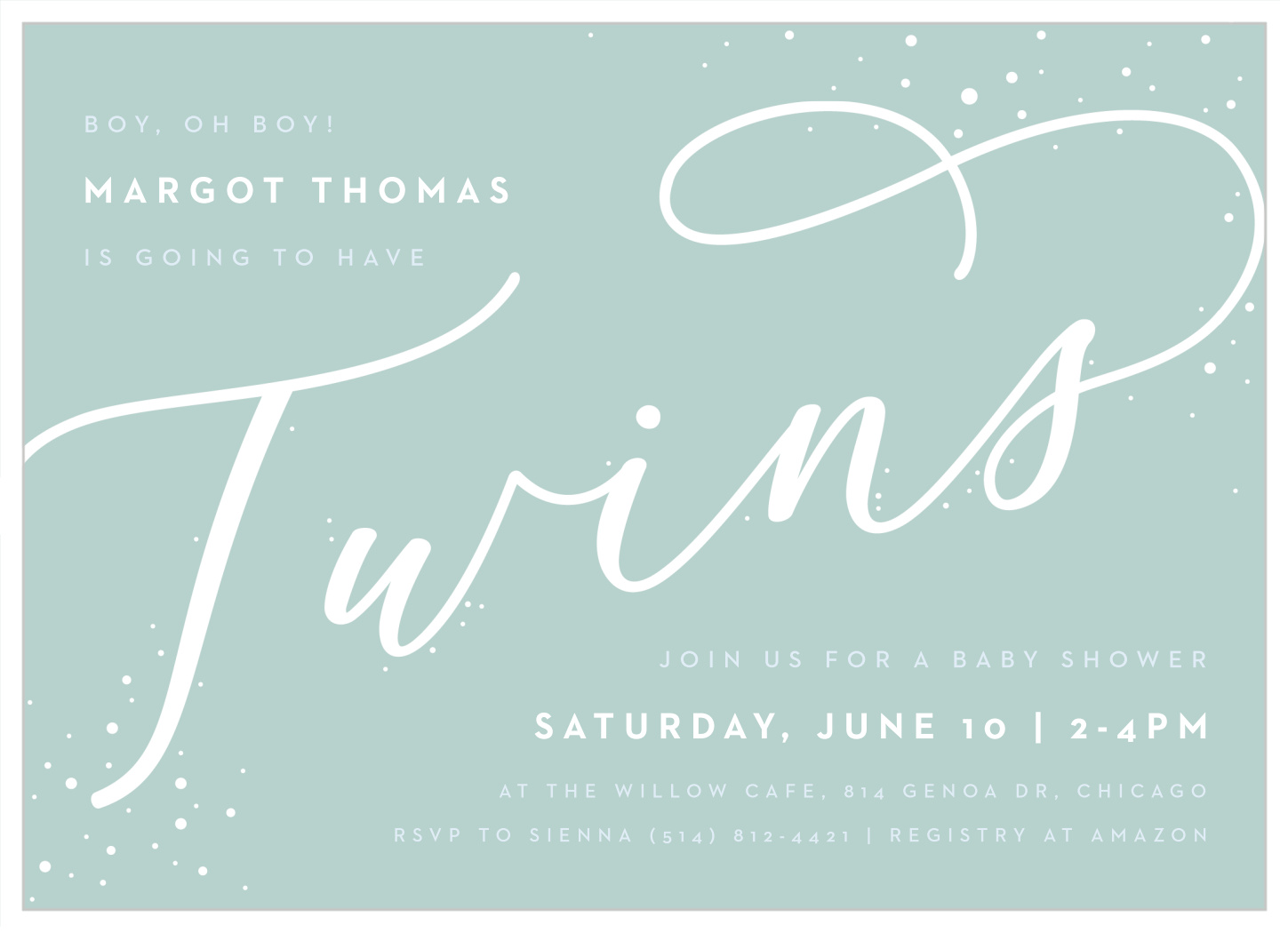 Bubbly Twins Baby Shower Invitations By Basic Invite