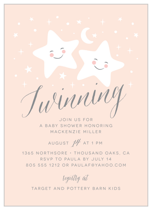 This is an image of Free Printable Twin Baby Shower Invitations for modern