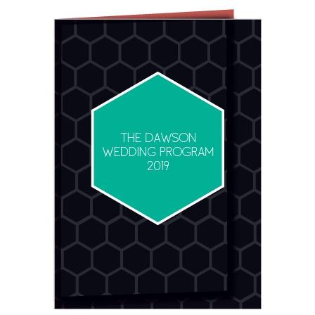 Sweet Honeycomb Wedding Program