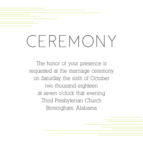 Modern Lines Ceremony Cards