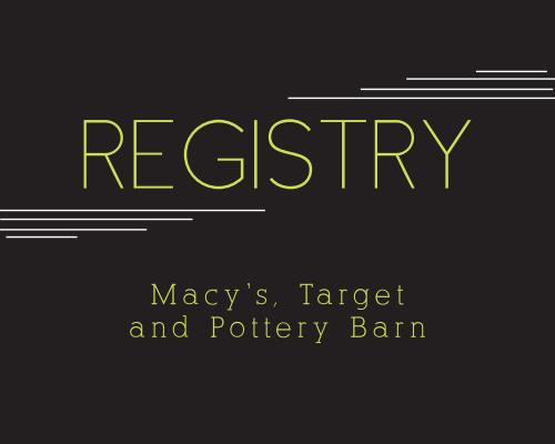 Modern Lines Registry Cards