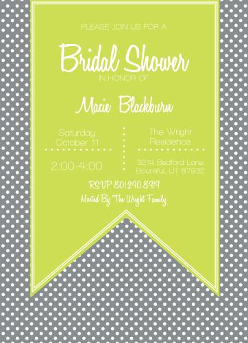ribbon fanatic bridal shower invitations