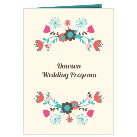 The Flowering Wedding Program