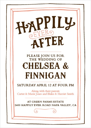 The Country Chic Wedding Invitation