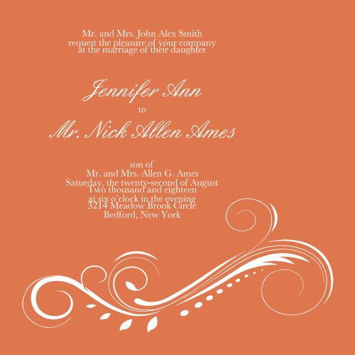 wedding invitations match your color style free size square