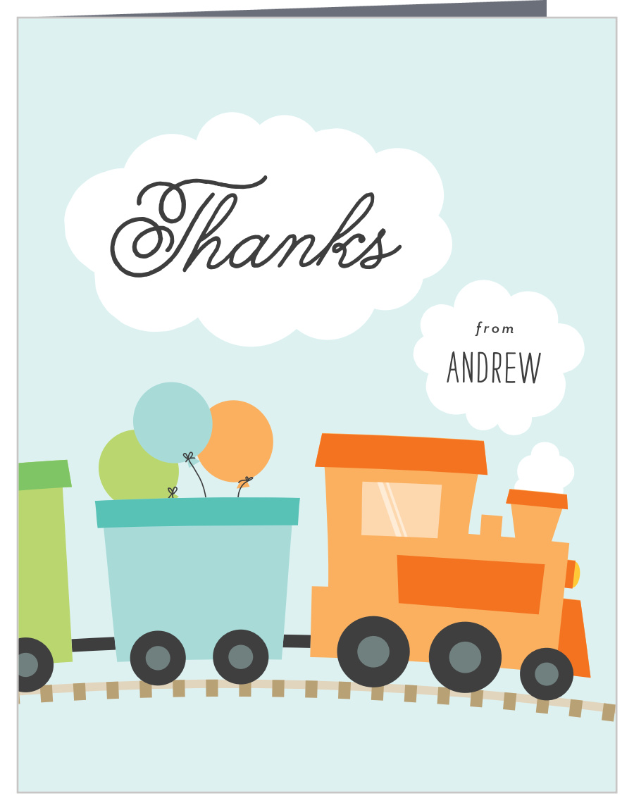 Train Thank You Cards
