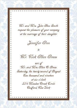 Vintage Elegance Wedding Invitation