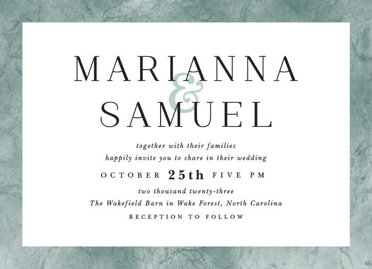 Formal Ticket Wedding Invitations