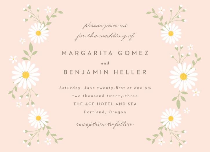 Summer Daisy Wedding Invitations