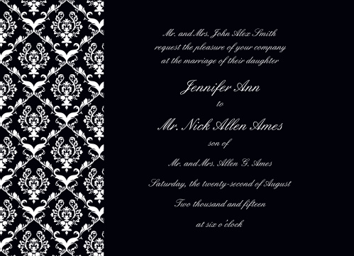 Timeless Damask Wedding Invitations