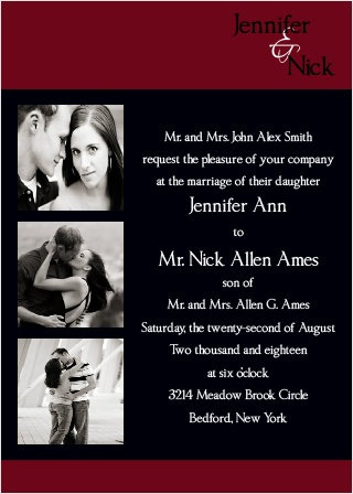 Now and Forever Wedding Invitation