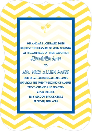 Tropical Wedding Invitations Match Your Color Style Free